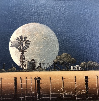 JS 4101 WINDMILL IN THE MOON 18 X 18 2020 07 09